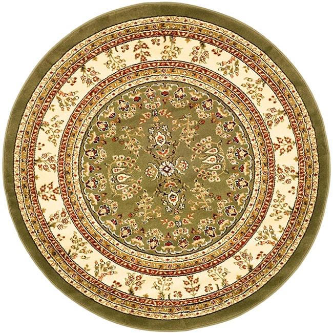 """Safavieh Lyndhurst Traditional Oriental Sage/ Ivory Rug - 5'3"""" x 5'3"""" round"""