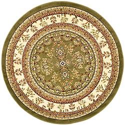 Safavieh Lyndhurst Traditional Oriental Sage/ Ivory Rug (8' Round) - Thumbnail 0