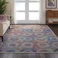 Nourison Global Vintage Multicolor Boho Area Rug - 7'10 x 9'10