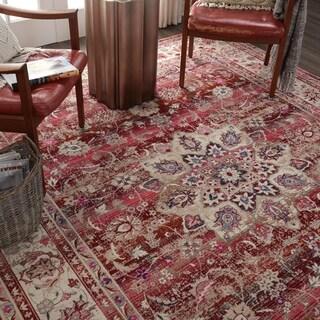 "Nourison Vintage Kashan Red Bohemian Area Rug - 7'10"" x 9'10"""
