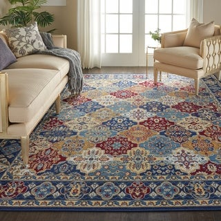 "Nourison Grafix Multicolor Traditional Area Rug - 7'10"" x 9'10"""