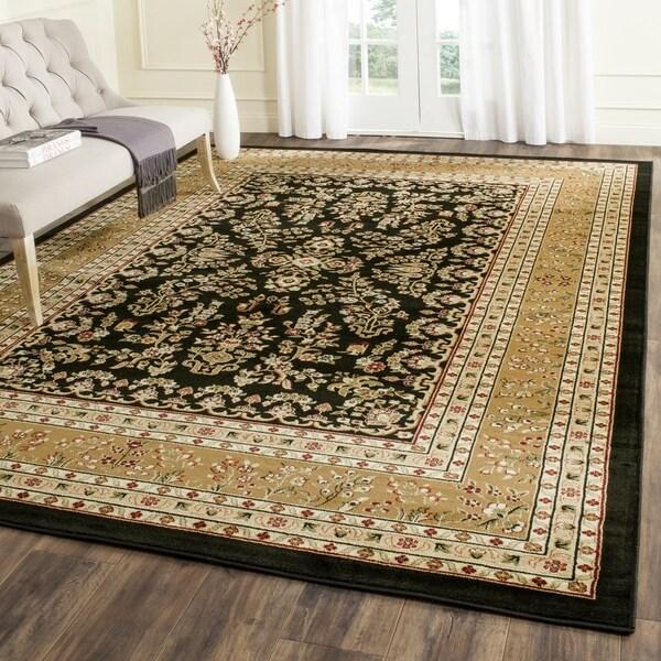 Discount 8x11 Area Rugs: Safavieh Lyndhurst Traditional Oriental Black/ Tan Rug