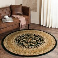 Safavieh Lyndhurst Traditional Oriental Black/ Tan Rug (5' 3 Round)