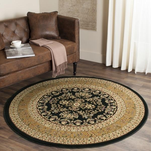 Safavieh Lyndhurst Traditional Oriental Black/ Tan Rug (5