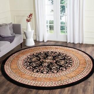 Safavieh Lyndhurst Traditional Oriental Black/ Tan Rug (8' Round)