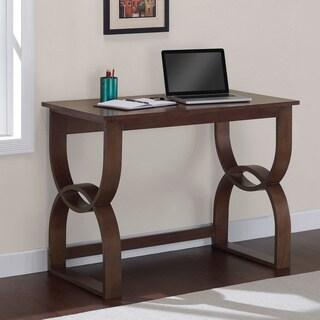 Bentwood Medium Walnut Finish Wood Writing Desk