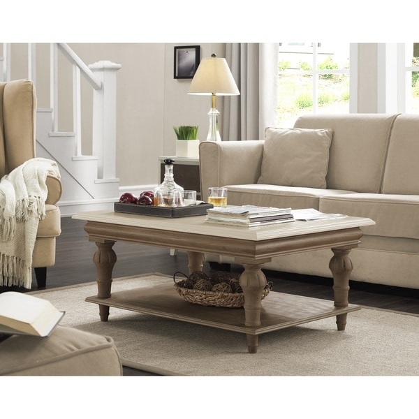 Shop Elements Cream Wood Coffee Table Free Shipping