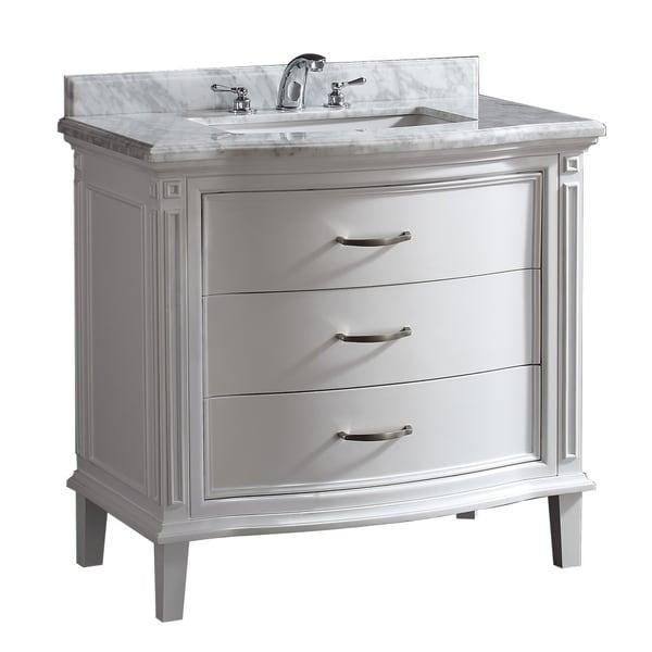Shop Ove Decors Rachel 40 In Single Basin White Vanity With Carrara