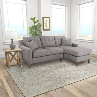 Klaussner Furniture Made to Order Andie Loveseat Chaise Sectional