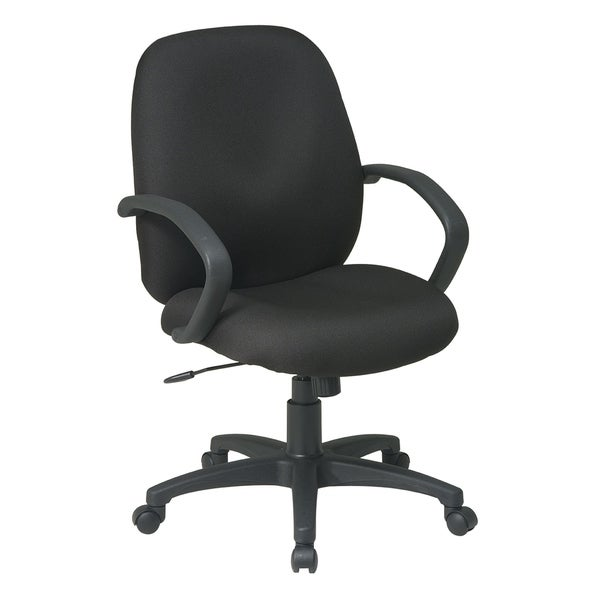 Executive Mid-Back Office Chair with Fabric Back.