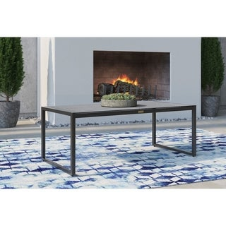 Tommy Hilfiger Hampton Outdoor Coffee Table with Pebbled Glass