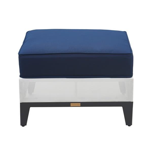 Awe Inspiring Shop Tommy Hilfiger Hampton Outdoor Ottoman Coastal White Ibusinesslaw Wood Chair Design Ideas Ibusinesslaworg