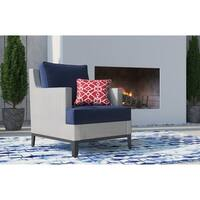 Tommy Hilfiger Hampton Outdoor Mesh Chair, Coastal White and Navy