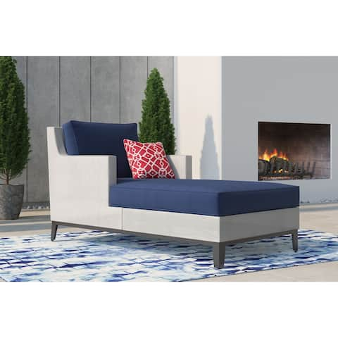 Tommy Hilfiger Hampton Outdoor Daybed, Coastal White and Navy