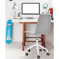 Rolling Linen Office Chair