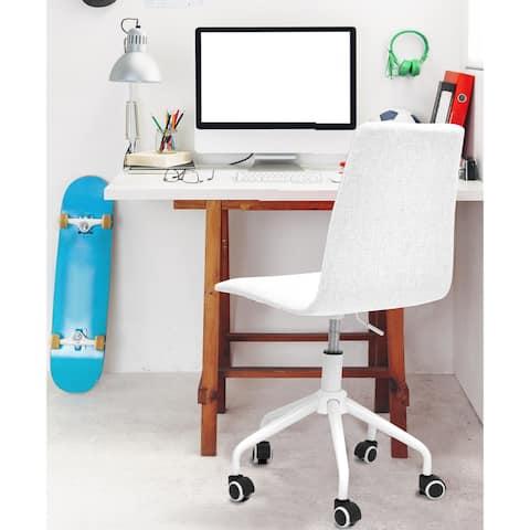 Rolling Linen Office Chair