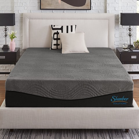 Slumber Solutions Active 12-Inch Charcoal Memory Foam Mattress