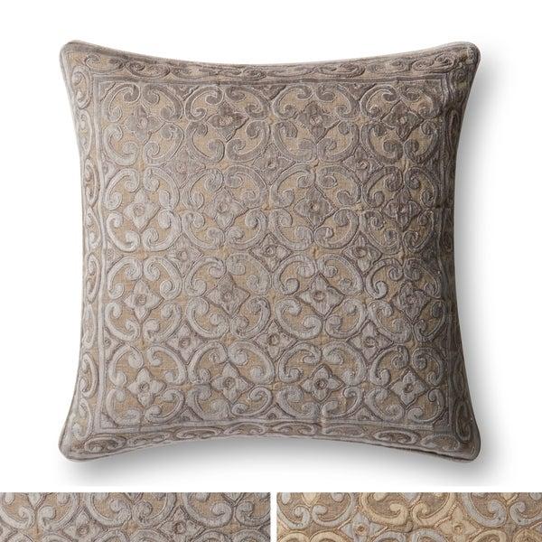 Shop Traditional Medallion Cotton Velvet Applique 40inch Pillow Adorable 22 Inch Pillow Covers