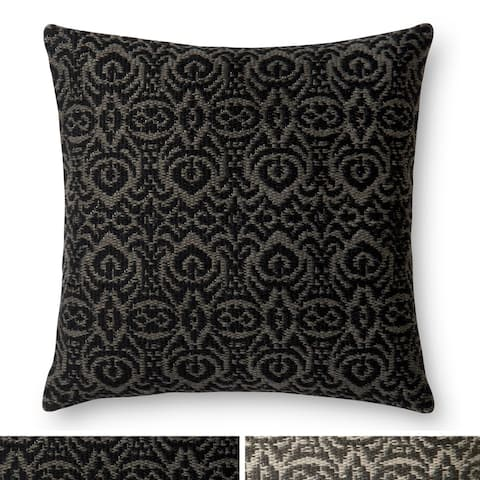 Indoor/ Outdoor Damask 22-inch Pillow Cover