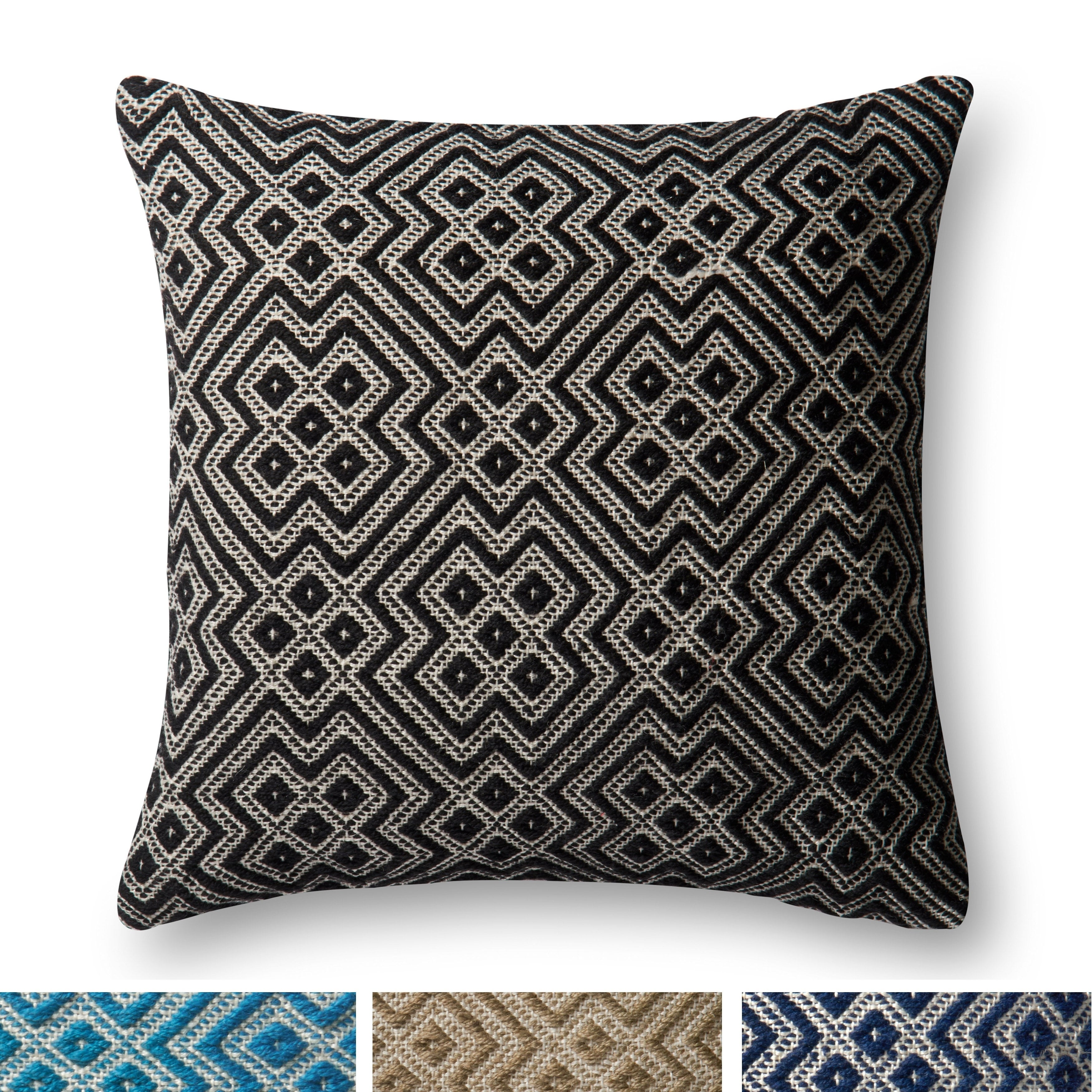 Indoor Outdoor Moroccan Geometric 22 Inch Pillow Cover Ebay