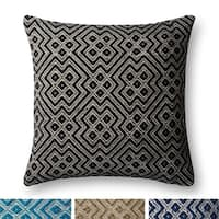 Indoor/ Outdoor Moroccan Geometric 22-inch Pillow Cover