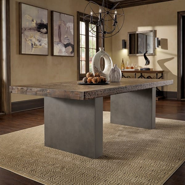 Shop Blake Reclaimed Wood and Concrete Dining Table by ...