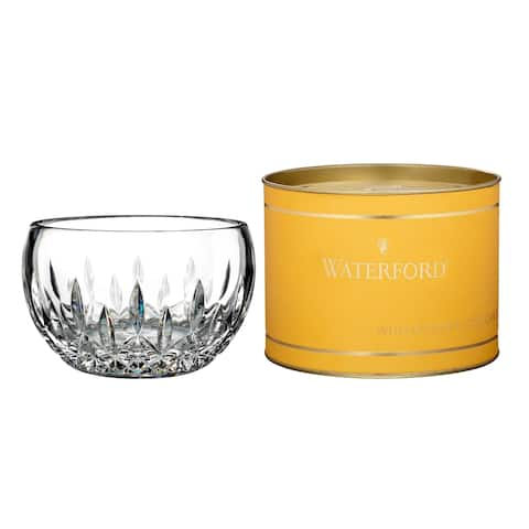 Giftology Clear 5-inch Lismore Candy Bowl and Canary Tube