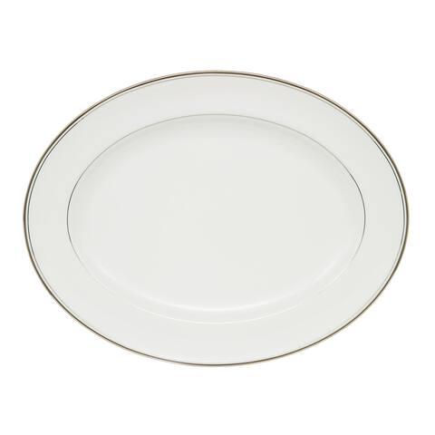 Kilbarry Platinum White 15.25-inch Oval Platter