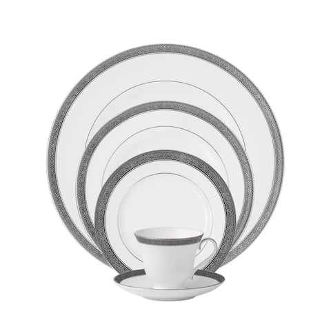 Newgrange Platinum White 5-piece Place Setting