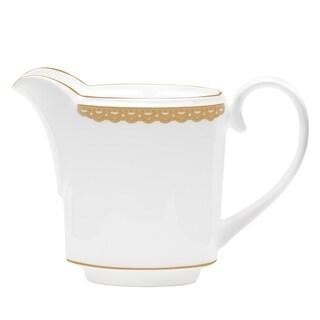 Lismore Lace Gold White Creamer