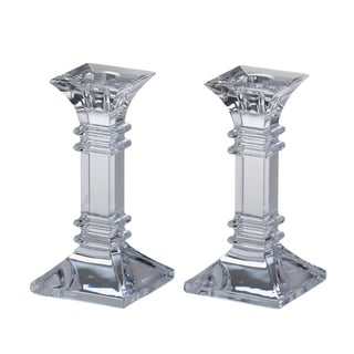 Link to Treviso Clear 6-inch Candlestick (Set of 2) Similar Items in Decorative Accessories