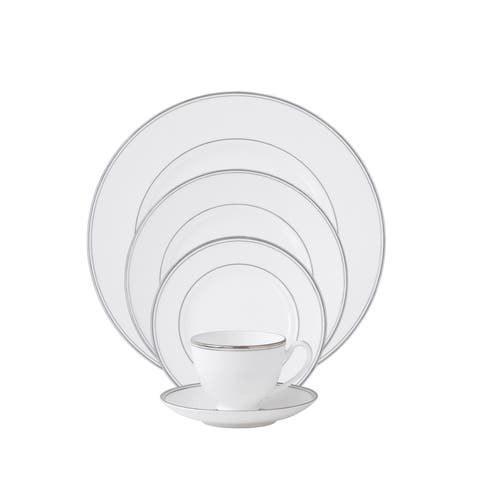 Kilbarry Platinum White 5-piece Place Setting