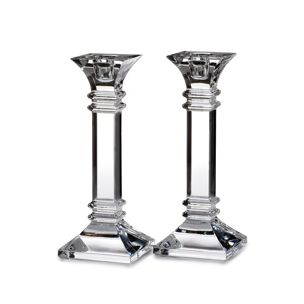 Treviso Clear 8-inch Candlestick (Set of 2)