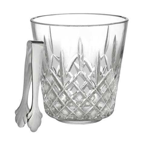 Lismore Clear 7.5-inch Ice Bucket and Tongs