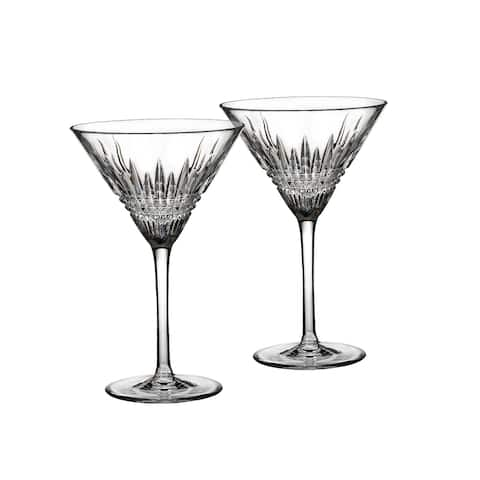Lismore Diamond Clear 9oz. Martini Glasses(Set of 2)