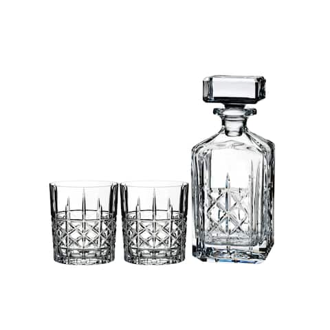 Brady Clear 32oz. Decanter and 11oz. Double Old Fashioned (Set of 2)