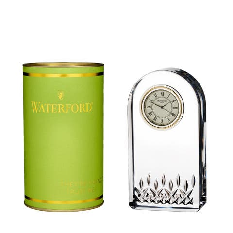 Giftology Clear 5.4-inch Lismore Essence Clock and Lime Tube