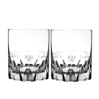 Ogham Short Stories Clear 12oz. Joy Double Old Fashioned (Set of 2)