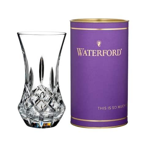 Giftology Clear 6-inch Lismore 'Bon Bon' Vase and Purple Tube