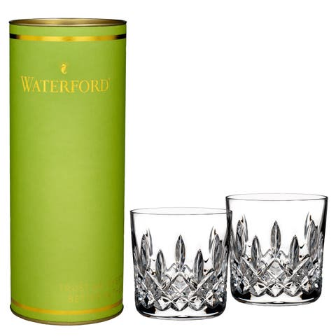 Giftology Clear 9oz. Lismore Tumbler (Set of 2) and Lime Tube