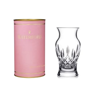 Lismore Clear 6-inch Lismore Vase and Pink Tube