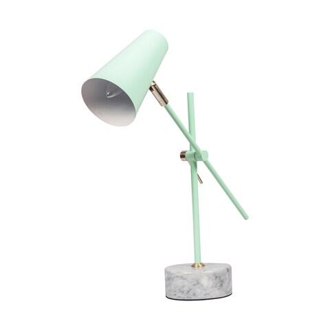 Mint Green Marble Base Desk Lamp