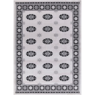 GAD Classic Collection Bokhara GrayBlackTraditional Area Rug