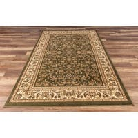 GAD Classic Collection Eternal Green Traditional Area Rug - 7'10 x 10'9
