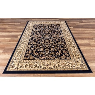 GAD Classic Collection Eternal Navy Traditional Area Rug