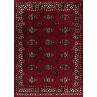 GAD Classic Collection Bokhara Red BlackTraditional Area Rug