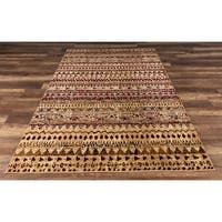 GAD Cottage Collection Noles Red Cream Southwestern/Lodge Area Rug - 6'7 x 9'2