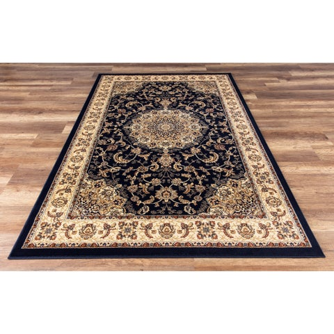 GAD Classic Collection Nain Navy Area Rug - 3'11 x 6'