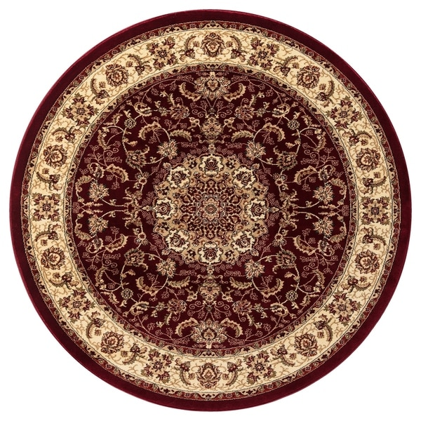 GAD Classic Collection Nain Red Traditional Area Rug