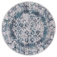 GAD Enduring Collection Serene Blue Gray Transitional Area Rug - 5'3